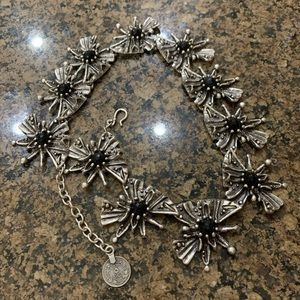 Turkish Silver Tone Glass Bead Necklace